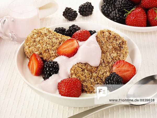 Getreide  Frische  Erdbeere  Weizen  Brombeere  Frühstück