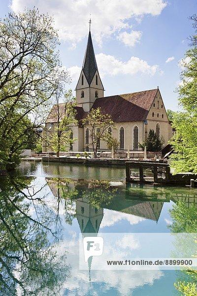Europa  Spiegelung  Kirche  Deutschland  Schwäbische Alb