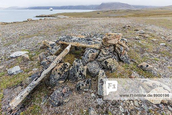 Hafen, Wohnhaus, Nordamerika, Kanada, Devon Island, Nunavut