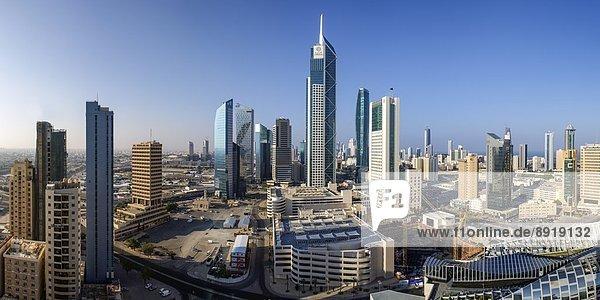 Skyline  Skylines  Großstadt  Ansicht  Erhöhte Ansicht  Aufsicht  Mittelpunkt  heben  Naher Osten  Business  Ortsteil  Kuwait  modern