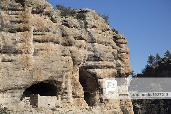Vereinigte Staaten von Amerika USA bauen über Steilküste Nordamerika Wohnhaus New Mexico