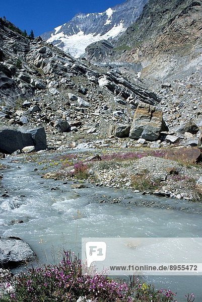 Valais Saas Fee Alps  Glacier.