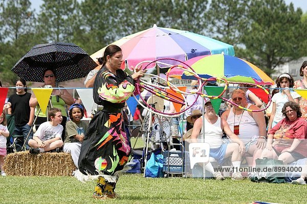 A Native American dances at the 8th Annual Red Wing PowWow in Virginia Beach  Virginia.