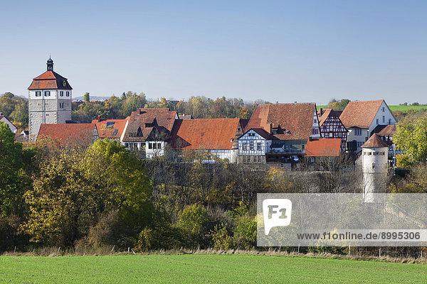 Schloss Vellberg mit Altstadt  Vellberg  Hohenlohe  Baden-Württemberg  Deutschland