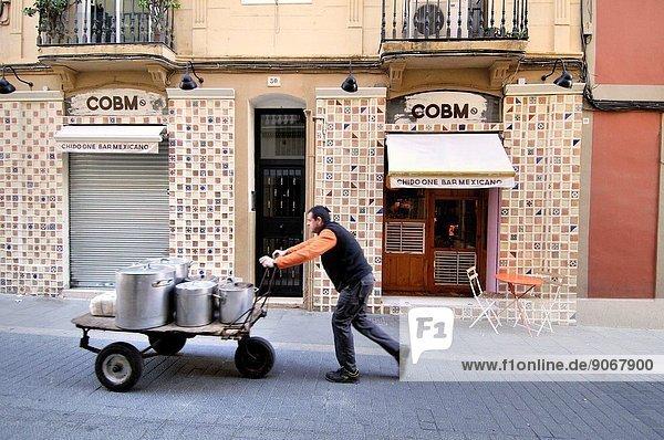 Gracia neigborhood  Barcelona  Catalonia  Spain