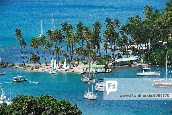 Marigot Bay St. Lucia Caribbean Island Cruise Windward Islands Lesser Antilles Norwegian Sun.