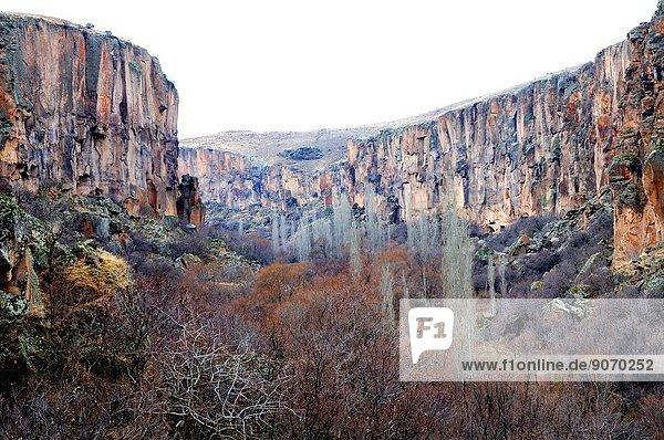 View of the valley. Turkey  Central Anatolia  Nevsehir Province  Cappadocia  Ihlara Valley.