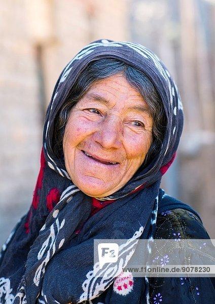 Old Smiling Kurdish Woman  Palangan  Iran.