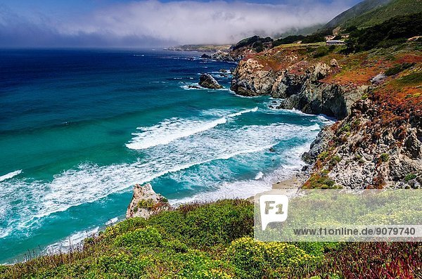 The Big Sur coast at Rocky Point  Big Sur  California USA.