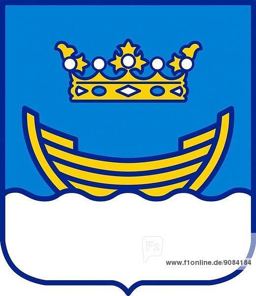 Coat of arms of the Finnish capital city Helsinki - Caution: For the editorial use only. Not for advertising or other commercial use!.