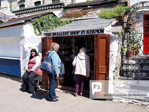 The smallest shop in Kernow (Cornwall)  Polperro  UK