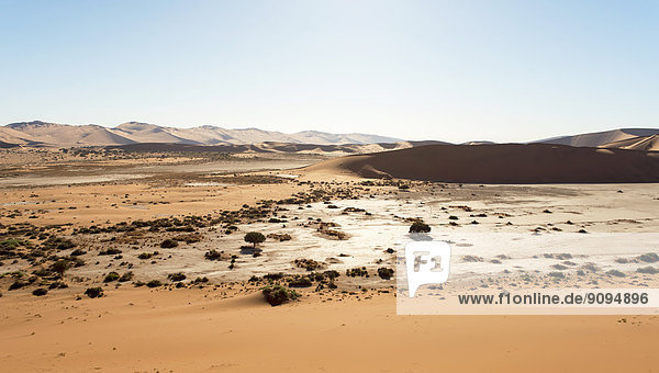 Afrika  Namibia  Sossusvlei  Blick auf Sanddünen und Tote Vlei