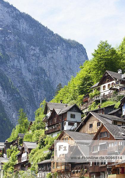 Österreich  Oberösterreich  Salzkammergut  Hallstatt  Häuser