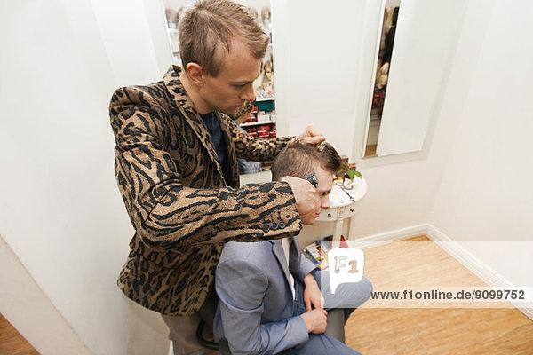 Fachleute  Laden  Rasur  Friseur  Haar