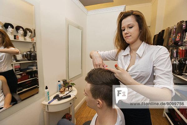 schneiden  Friseur  Laden  Haar