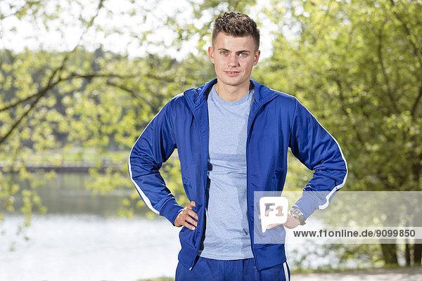 stehend  Portrait  Mann  Sport  Hoffnung