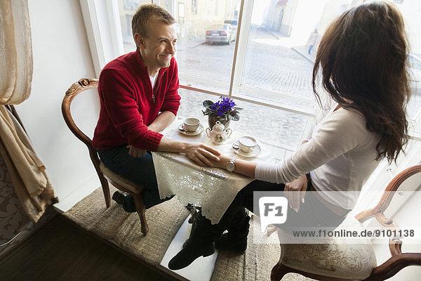 halten  Cafe  Länge  voll  Romantik
