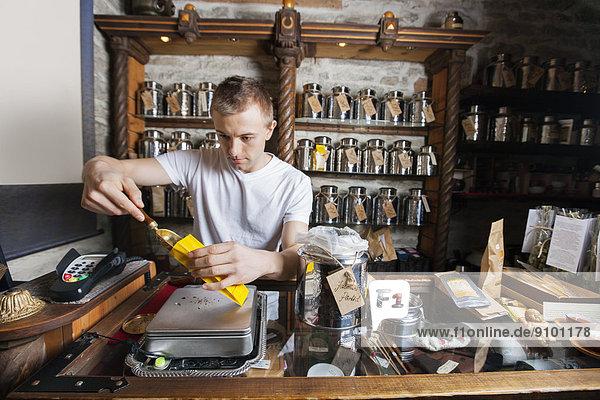 Papier  Tasche  schöpfen  Inhaber  Laden  Zutat  Tee