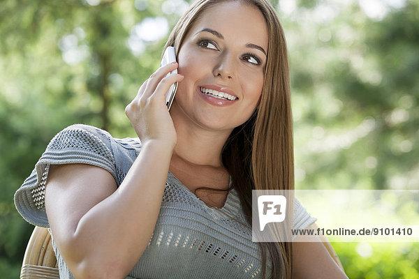 benutzen  Frau  Handy  Schönheit  Telefon  jung