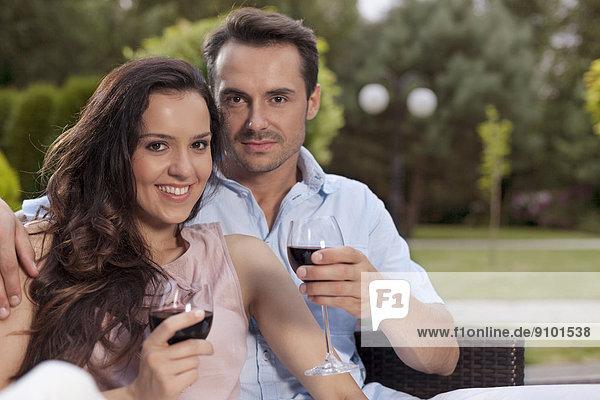 Portrait  Schönheit  Wein  rot  jung