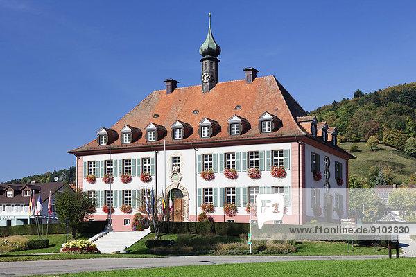 Rathaus von Münstertal  Schwarzwald  Baden-Württemberg  Deutschland