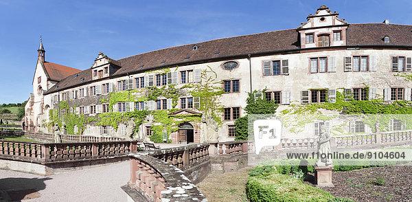 Kloster Bronnbach  Taubertal  Romantische Straße  Bronnbach  Baden-Württemberg  Deutschland