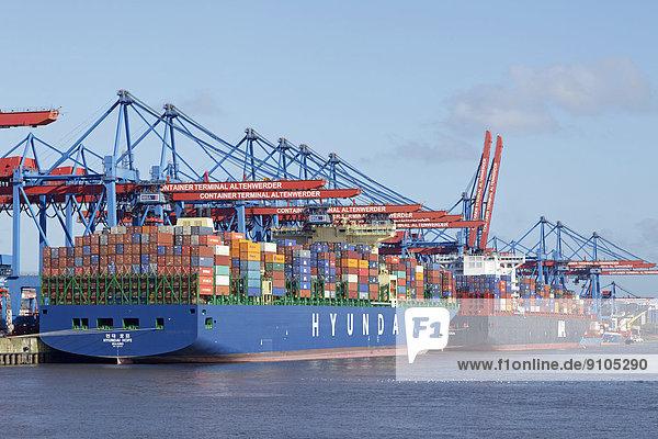 Container Terminal Altenwerder  Hamburger Hafen  Hamburg  Deutschland
