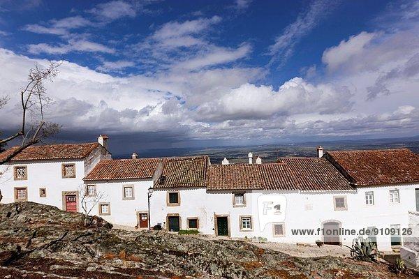 White houses  Marvao  Region Alentejo  Portugal