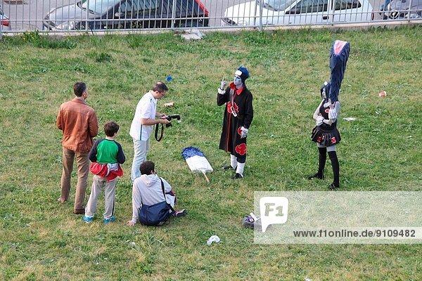 Rom  Hauptstadt  Mensch  Menschen  Kleidung  Kostüm - Faschingskostüm  Italien  Show