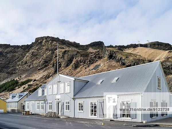 Europa Winter Tradition Gebäude Vík í Mýrdal Februar Island Nordeuropa Skandinavien