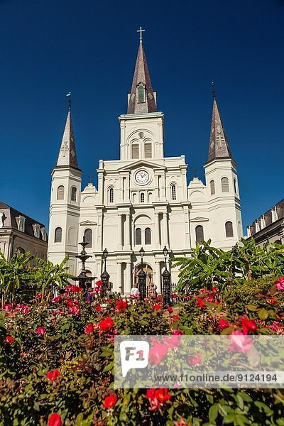 Saint Louis Cathedral in Jackson Square  French Quarter  New Orleans.