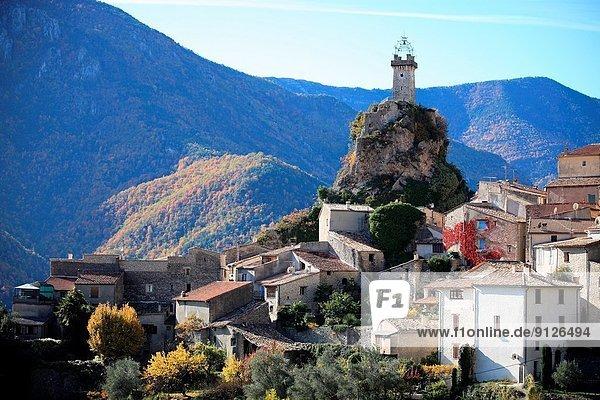 Village of Sigale  Vallée de l´Esteron  Alpes-Maritimes  Parc régional des Préalpes d´Azur  Provence-Alpes-Côte d´Azur  France.