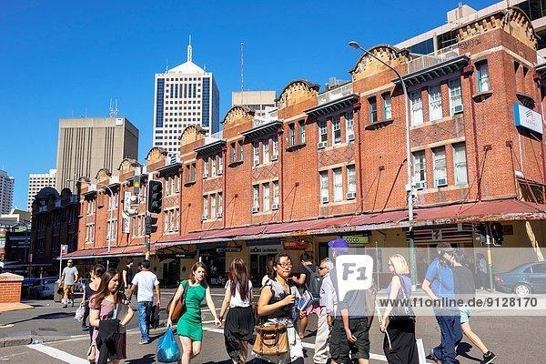 Frau  Gebäude  Geschichte  Fußgänger  Australien  New South Wales  Sydney