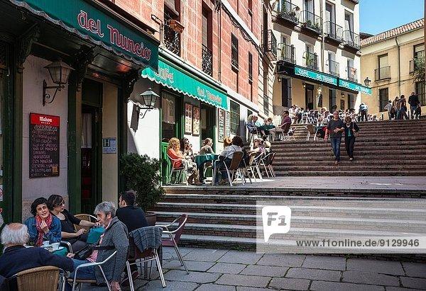 Cafe Del Nuncio in the Calle del Nuncio  La Latina  Madrid.