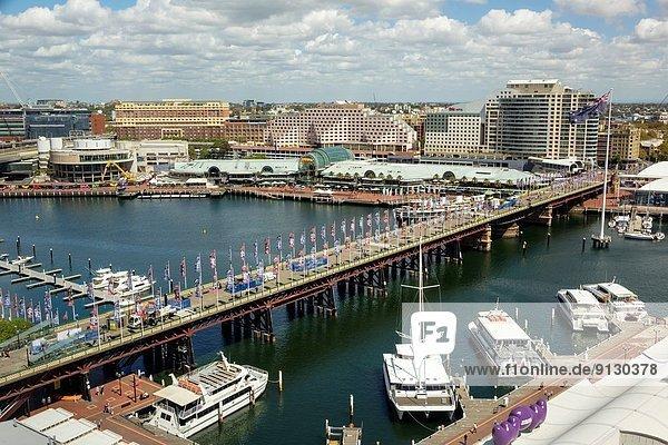 Fischereihafen  Fischerhafen  Einkaufszentrum  Wasser  Boot  kaufen  Fußgänger  Australien  New South Wales  Sydney