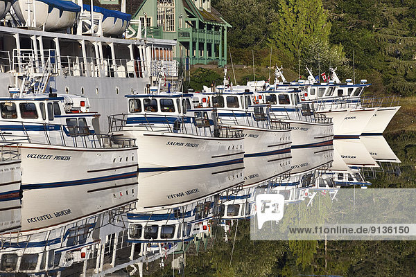 Tour boats in Ucluelet Harbour  Vancouver Island  British Columbia  Canada