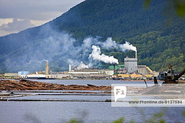 Pulp Mill  Port Alice  Northern Vancouver Island  Vancouver  British Columbia  Canada.