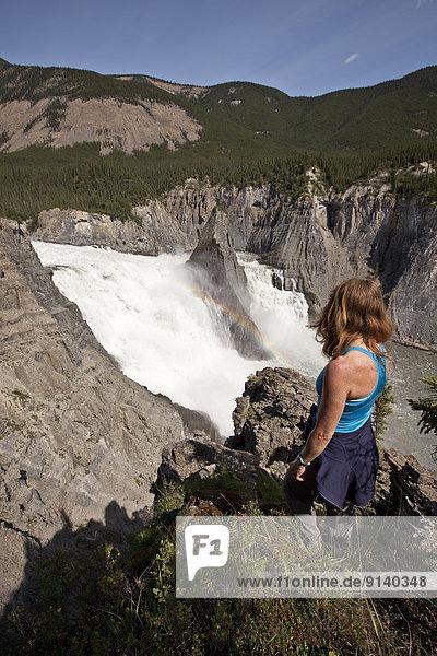Frau  Fröhlichkeit  Ansicht  Northwest Territories  Kanada