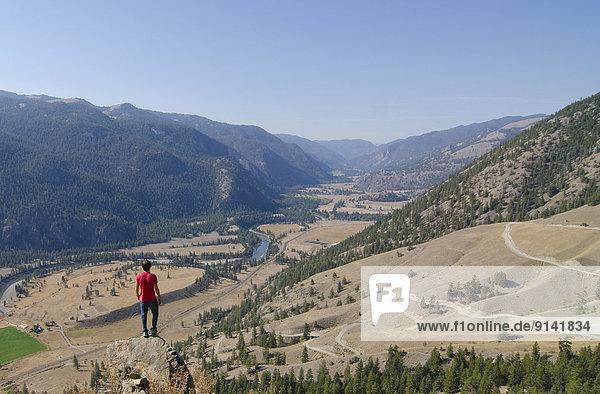 nahe  nehmen  Tal  wandern  Ansicht  British Columbia  Kanada