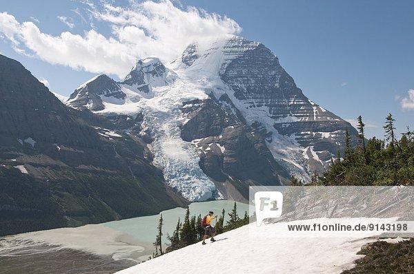 Ansicht  Berg  Mount Robson Provincial Park  Berggipfel  Gipfel  Spitze  Spitzen  British Columbia  Kanada