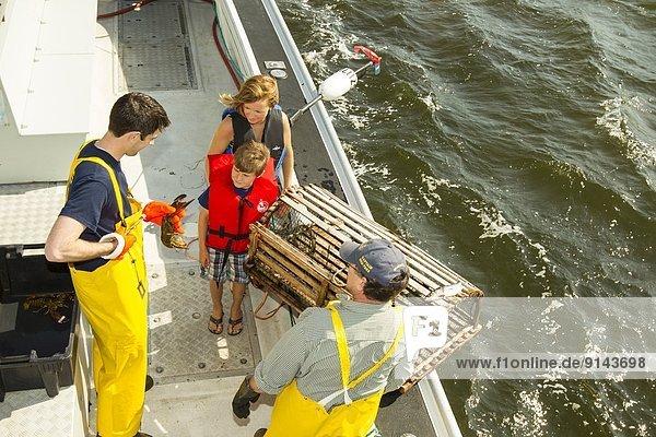 sprechen Junge - Person Fischer jung Hummer Mutter - Mensch