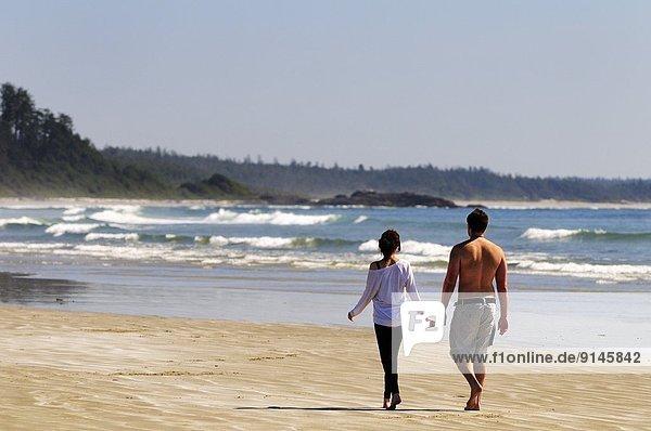 nahe Nationalpark gehen Strand lang langes langer lange Pazifischer Ozean Pazifik Stiller Ozean Großer Ozean jung