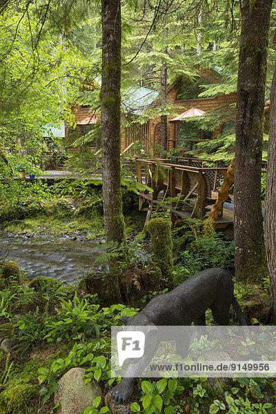 Landschaftlich schön landschaftlich reizvoll Lodge Landhaus Urlaub Bucht British Columbia Kanada