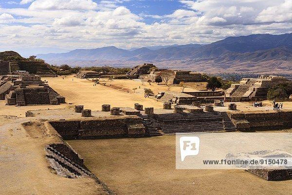 Monte Alban archeological site  Oaxaca  Mexico.