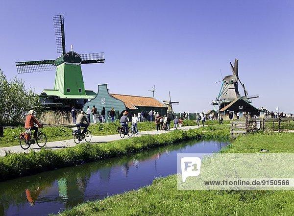 Windturbine Windrad Windräder nahe Geschichte Niederlande