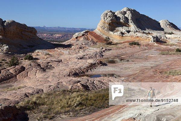 Vereinigte Staaten von Amerika  USA  Steilküste  Landschaftlich schön  landschaftlich reizvoll  weiß  wandern  Arizona  Schlucht  Tarn