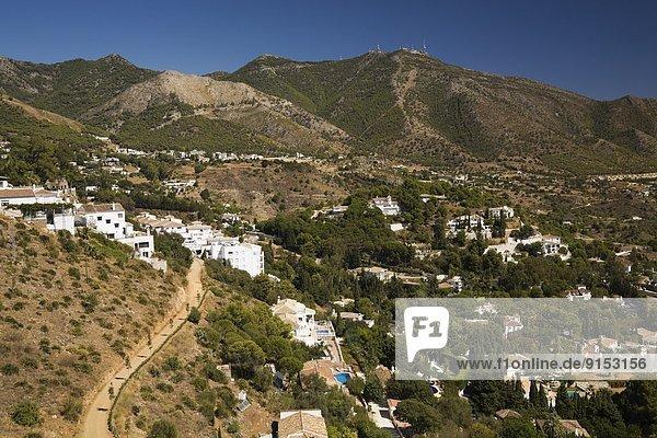 Europa Wohnhaus Nachbarschaft Ansicht Mijas Spanien