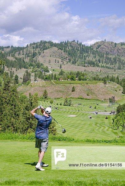 Golfing  Oliver  British Columbia  Canada.