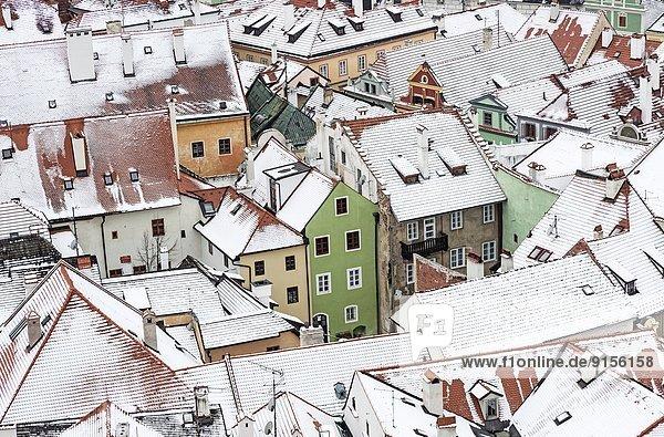 Dach Tschechische Republik Tschechien Cesky Krumlov