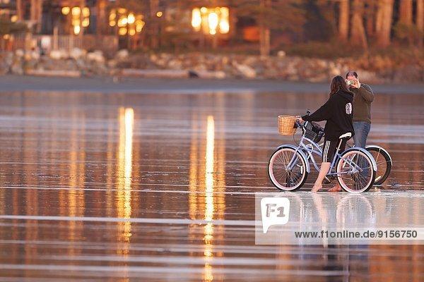 nahe  Fotografie  Strand  Sonnenuntergang  fahren  Kreuzfahrtschiff  Tofino  British Columbia  British Columbia  Kanada  Vancouver Island